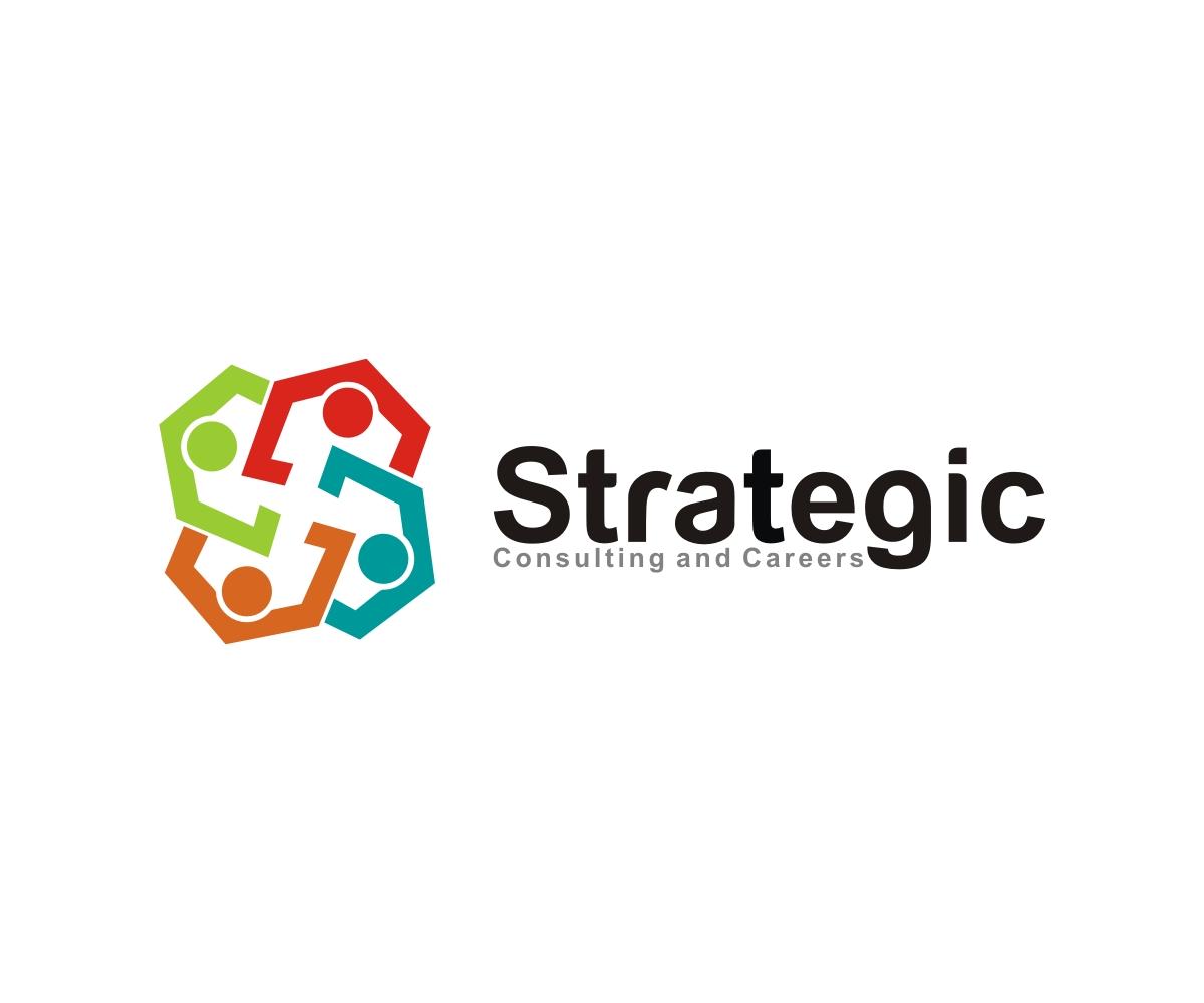 Modern serious leadership logo design for strategic for Strategic design agency