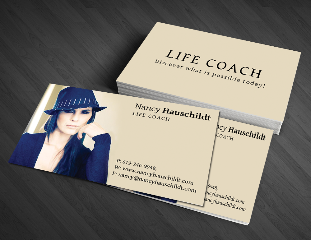 Business Card Design for Nancy Hauschildt Life Coaching by Artman ...