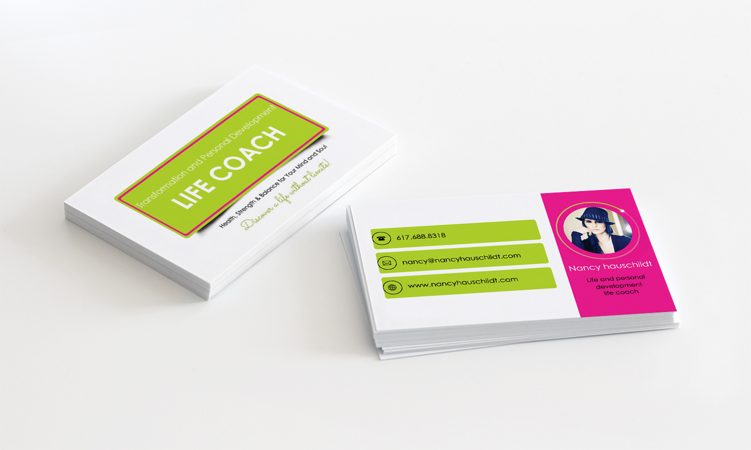 Business Card Design for Nancy Hauschildt Life Coaching by Stylez ...