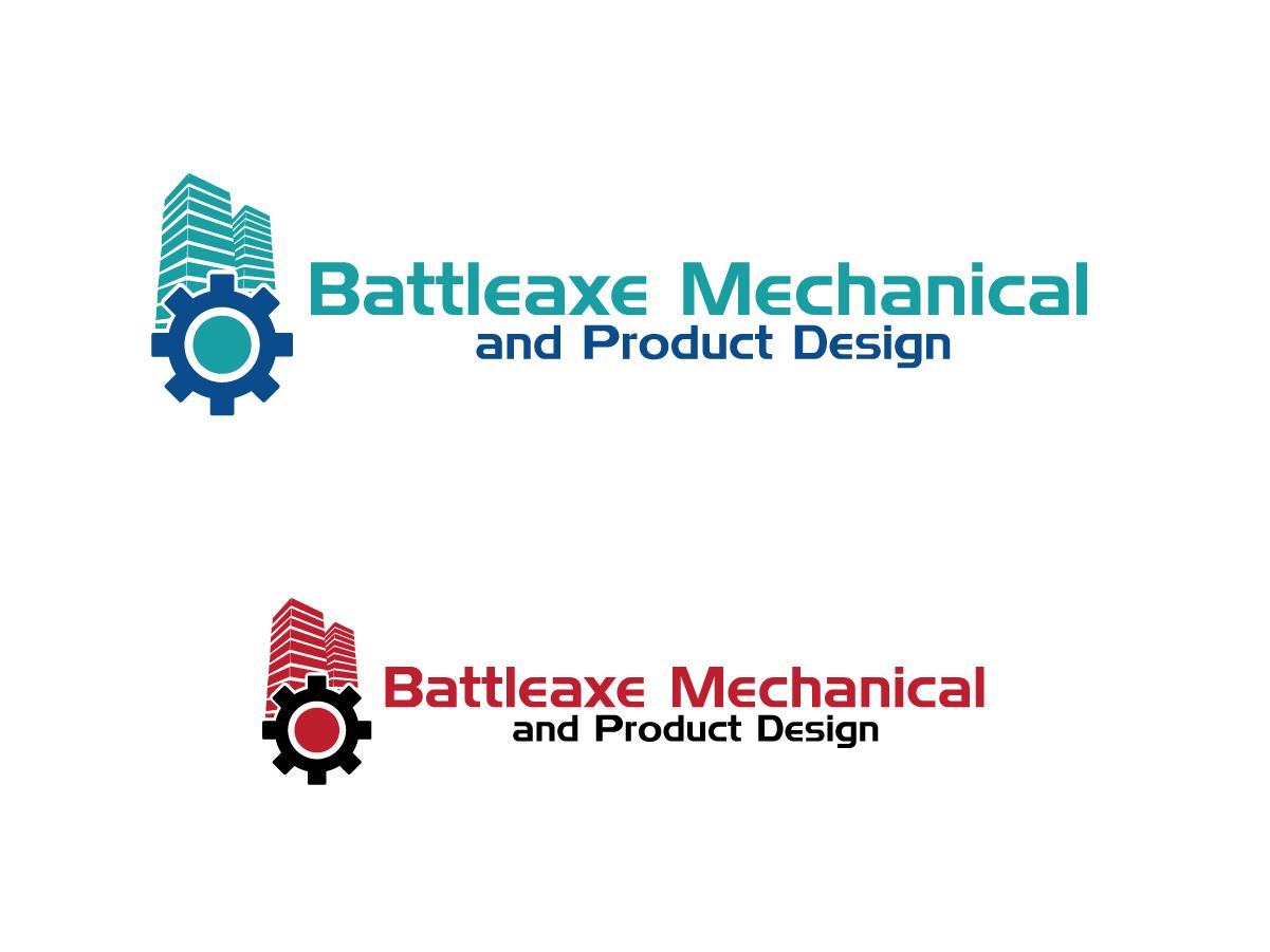 Fett ernst it company logo design for battleaxe for Mechanical product design companies