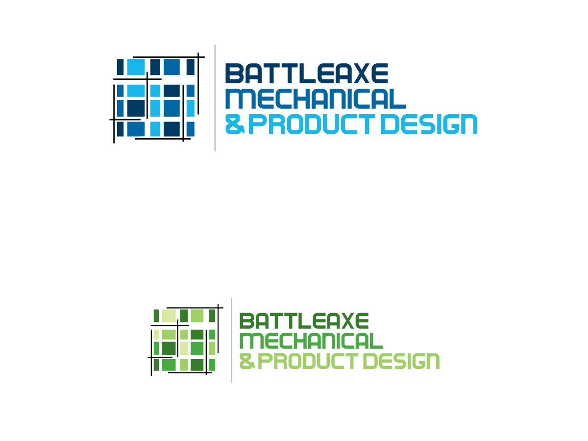 Bold serious it company logo design for battleaxe for Mechanical product design companies