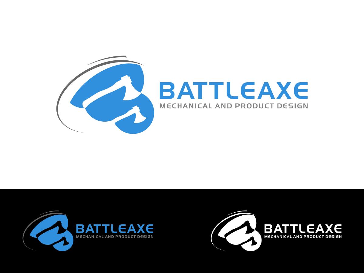 Atrevido serio it company dise o de logo for battleaxe for Mechanical product design companies