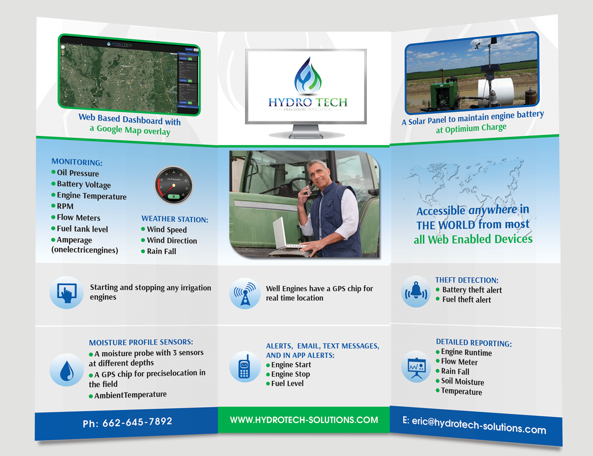 Agriculture Brochure Design for Hydro Tech by Adylhere | Design #4502482