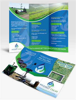 Brochure Design by creationz2011 - Hydro Tech LLC in the agriculture irrigation ma ...