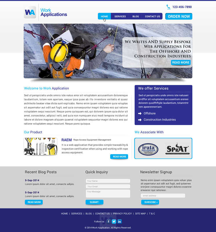 Professional Masculine Construction Web Design For Total Coating
