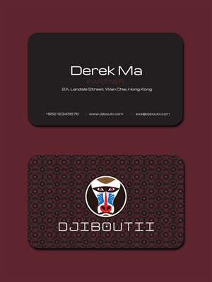 Business Card Design by costur - Djiboutii Business Card Design