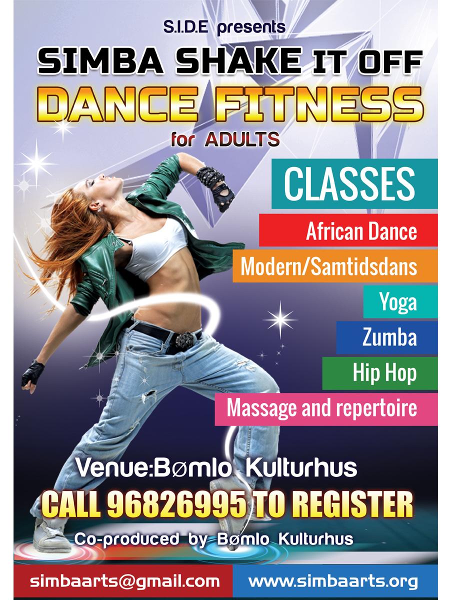 Training Poster Design for Simba Dance Ensemble by
