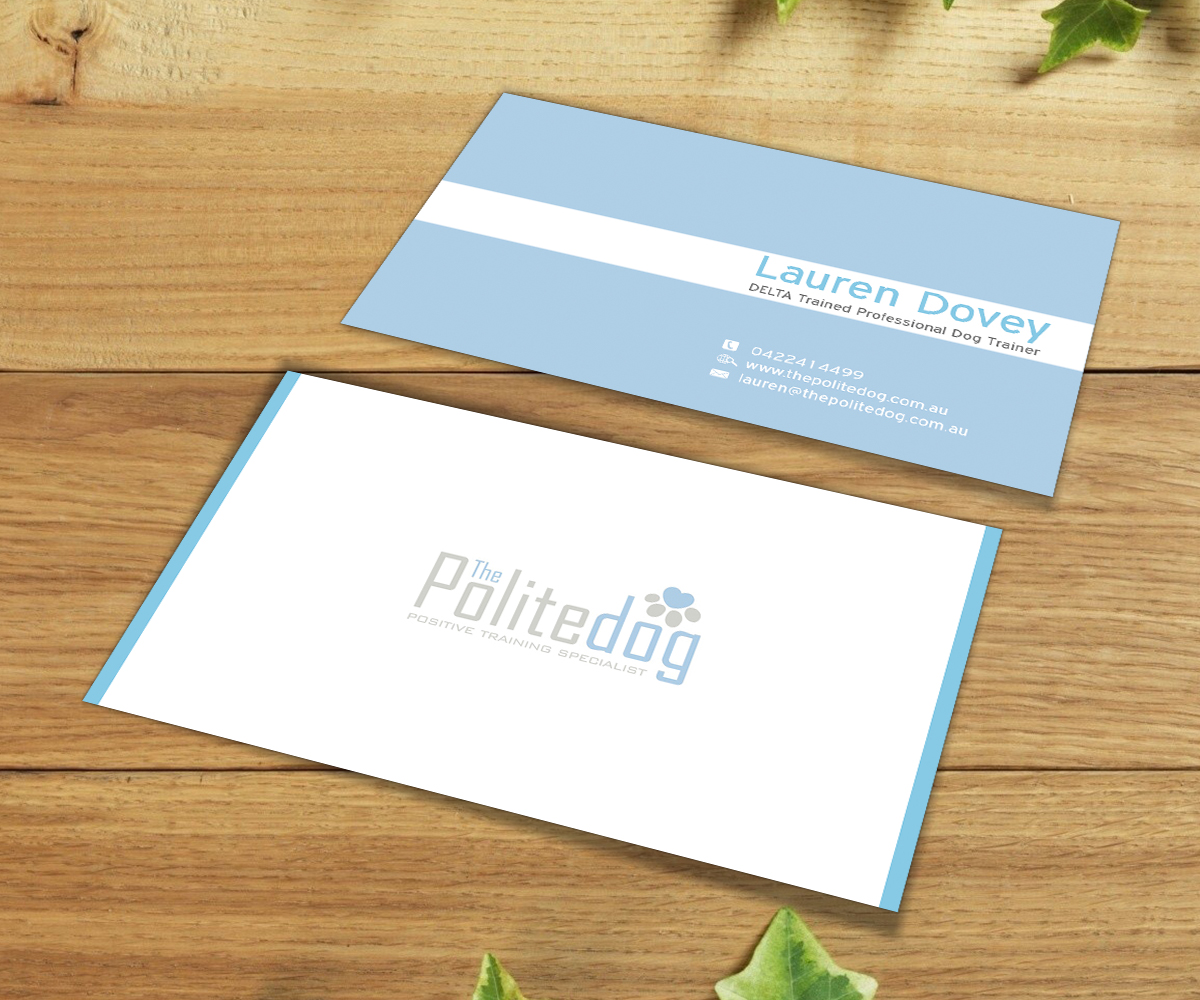 Serious, Modern, Dog Training Business Card Design for a Company by ...