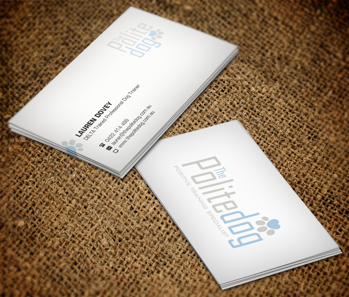 Serious modern dog training business card design for a company by business card design by nuhanenterprise for this project design 4459603 colourmoves