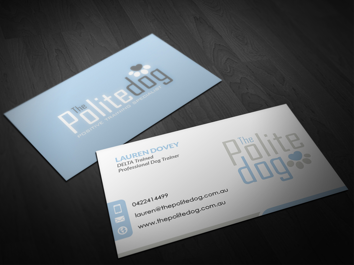 76 Serious Business Card Designs | Dog Training Business Card Design ...