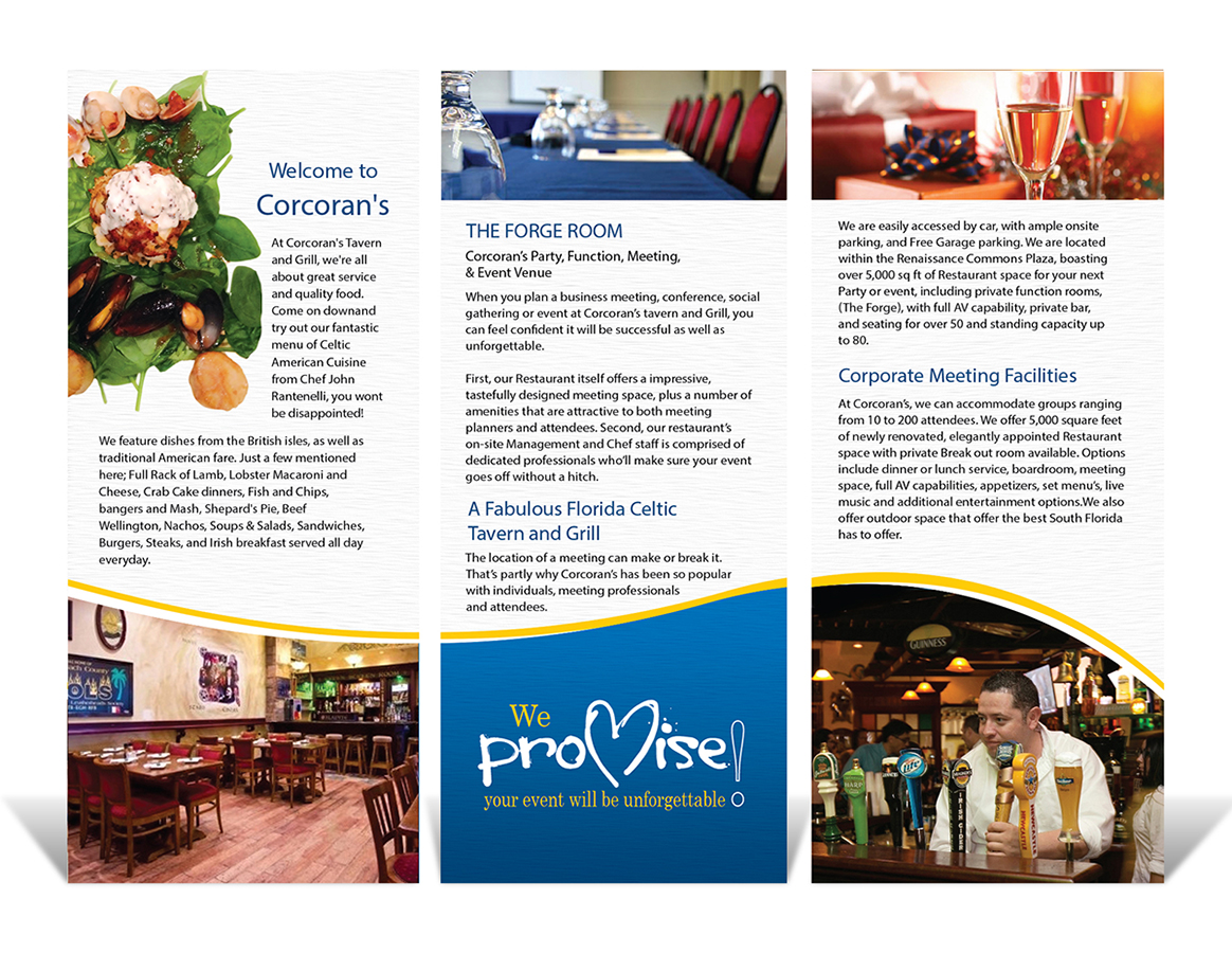 festival brochure design - serious professional event planning brochure design for