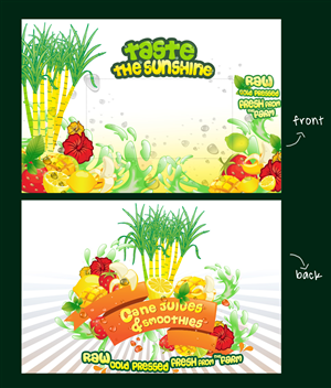 Sticker Design by awankaya - Tropical (feel) illustration for juice trailer.