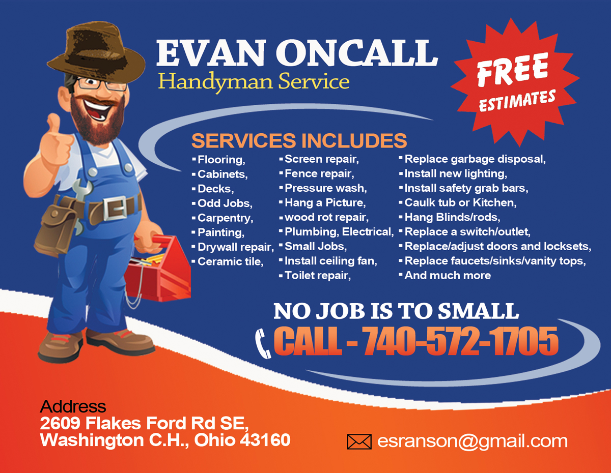 17 Professional Handyman Postcard Designs For A Handyman