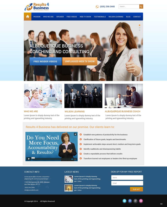 Bold Colorful Business Web Design For Maverick Web Video By Pb Design 4559104