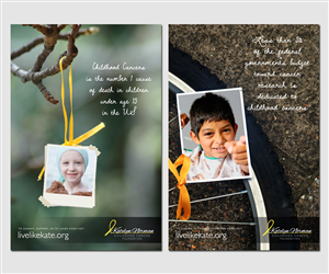 Poster Design by Plimsoll Line - Need 4 childhood cancer facts posters