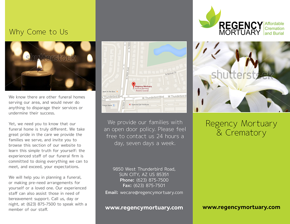 26 modern colorful funeral home brochure designs for a funeral