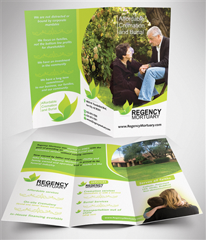 Modern Colorful Funeral Home Brochure Designs For A Funeral