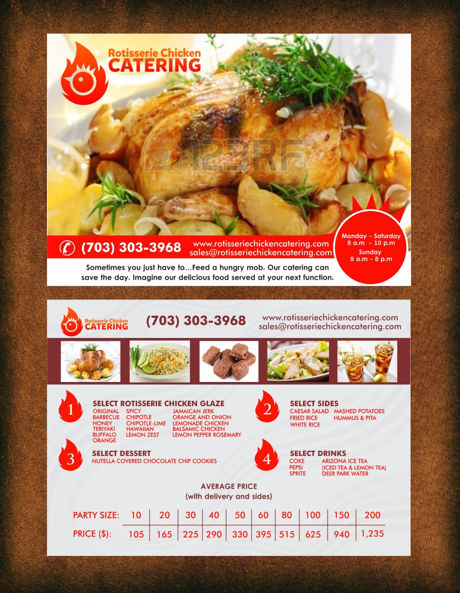Bold Colorful Catering Flyer Design For A Company In United States