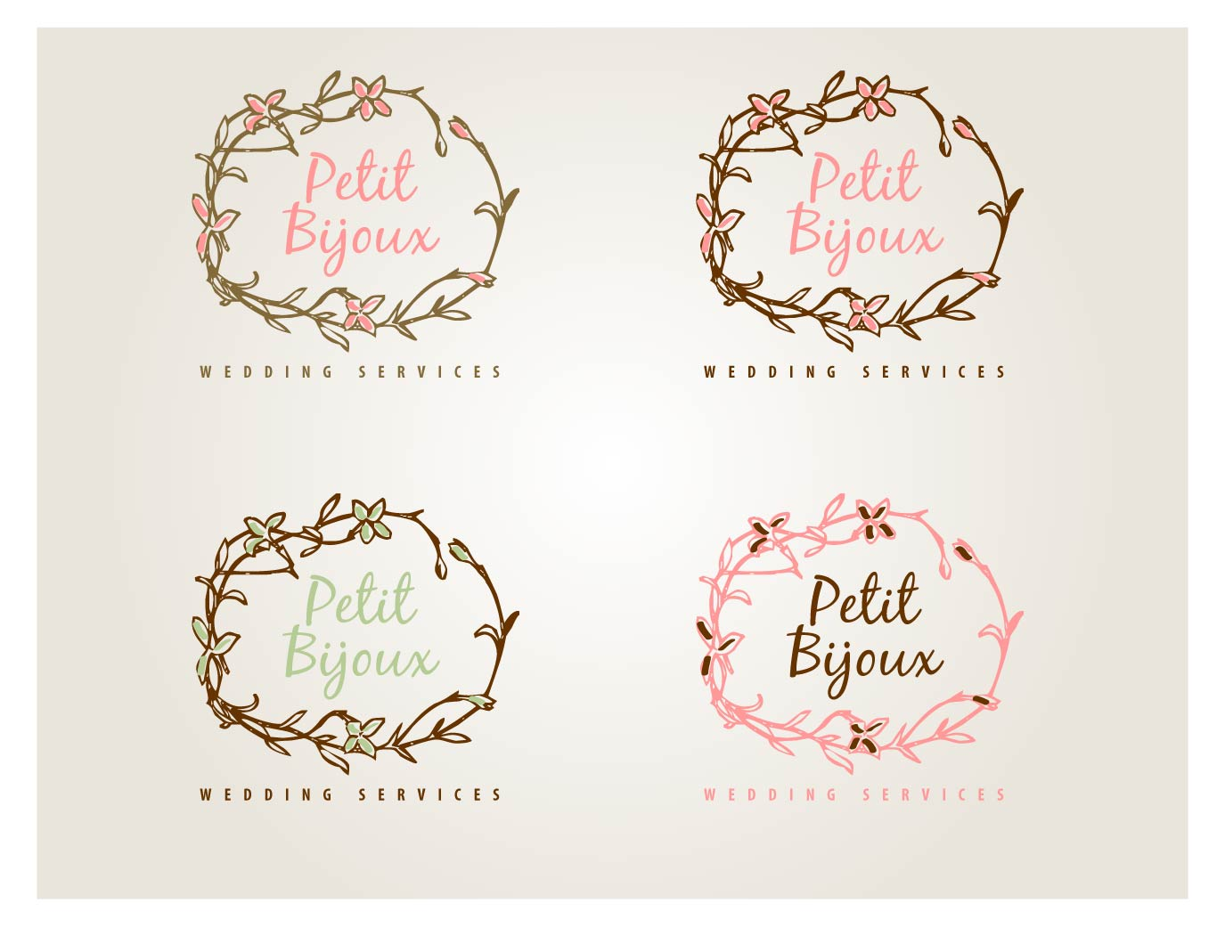 Elegant feminine wedding logo design for petit bijoux wedding elegant feminine wedding logo design for a company in united kingdom design 4527344 junglespirit Images