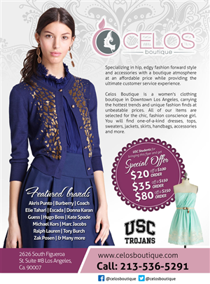 Womens clothing flyers womens clothing flyer design at for Brochure design for boutiques