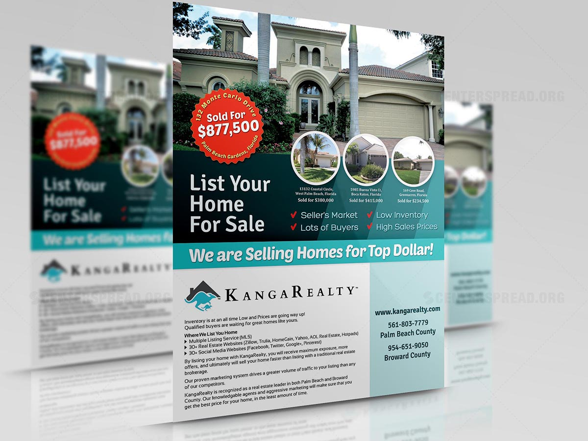 real estate flyer design for a company by centerspread design 4598376
