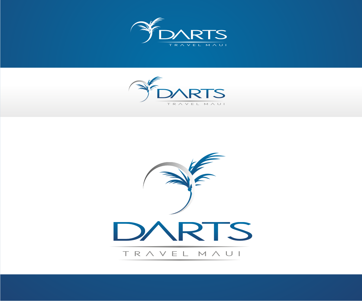 Education logo design for darts travel maui by r i d for D for design