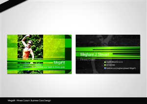 Business Card Design job – Megafit - Fitness Coach. Needs a Business Card Design that I can also use for other advertising – Winning design by disign