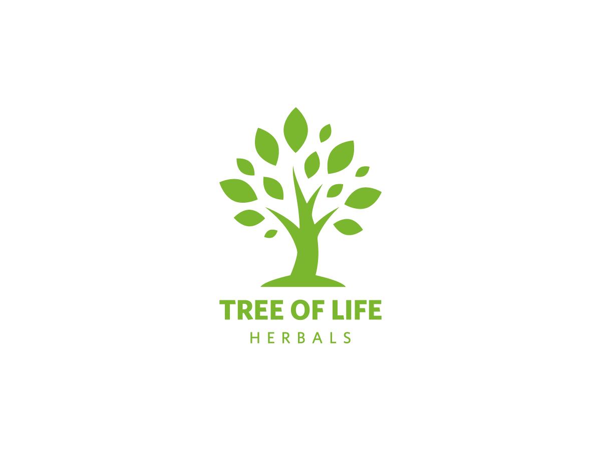elegant upmarket it company logo design for tree of life herbals