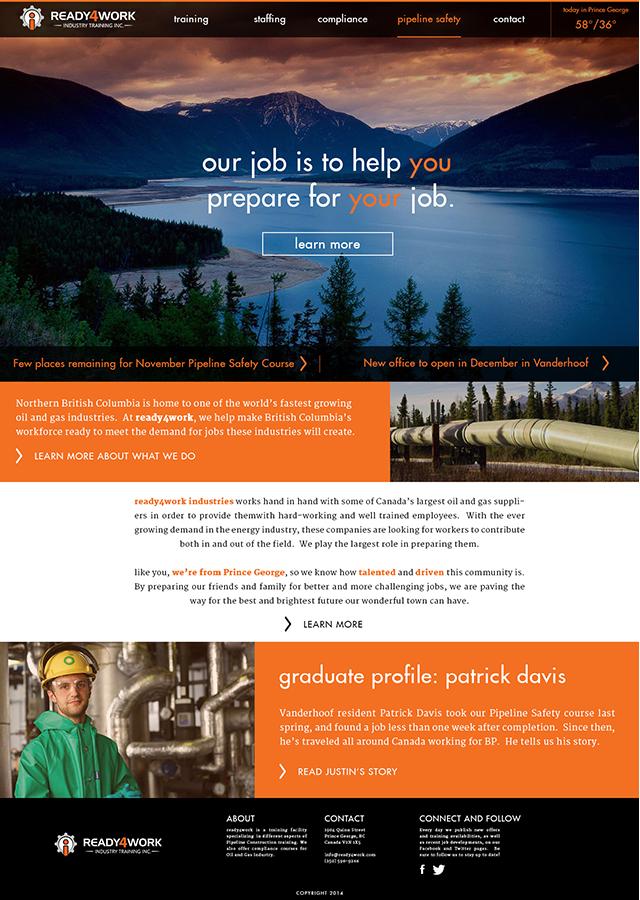 Bold masculine school web design for a company by asjd for Masculine web design