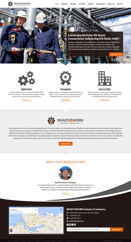 Bold masculine web design for jodie surerus by mind for Masculine web design