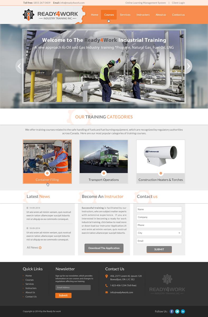Bold masculine school web design for a company by sbss for Masculine web design