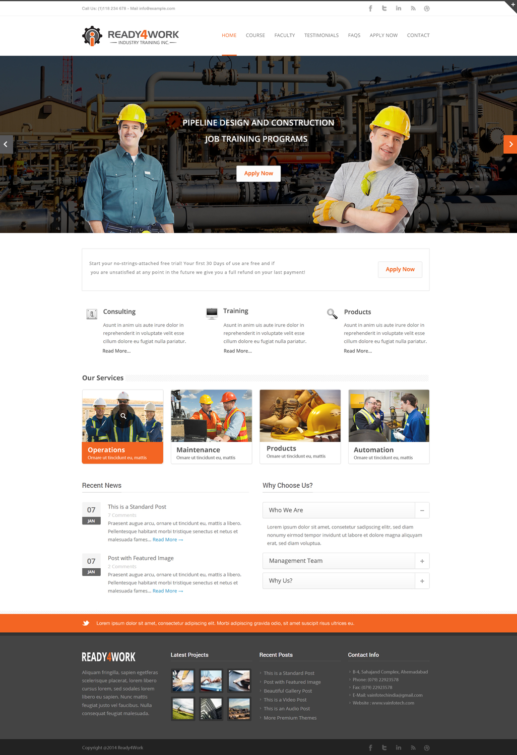 Bold masculine school web design for a company by advent for Innovative design company