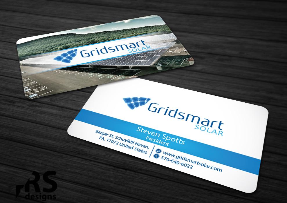 Business business card design for gridsmart solar by rs designs business card design by rs designs for gridsmart solar design 4566320 colourmoves