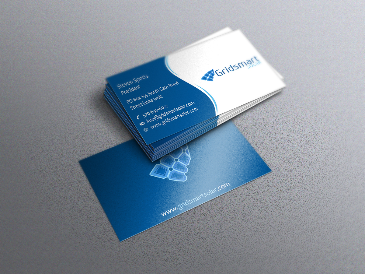 Business card design for gridsmart solar by taimoor design 4497776 business card design by taimoor for solar company bussiness card design 4497776 colourmoves Image collections