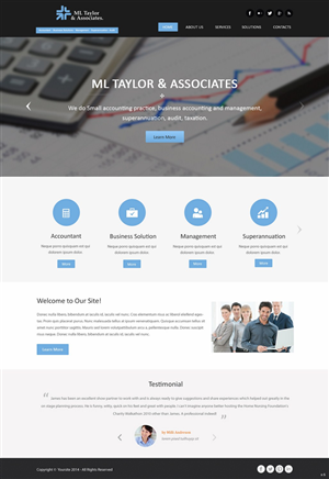 Accounting Web Design Galleries for Inspiration