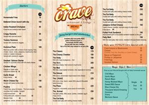 Menu Design by Parul - Fresh easy to read restaurant menu