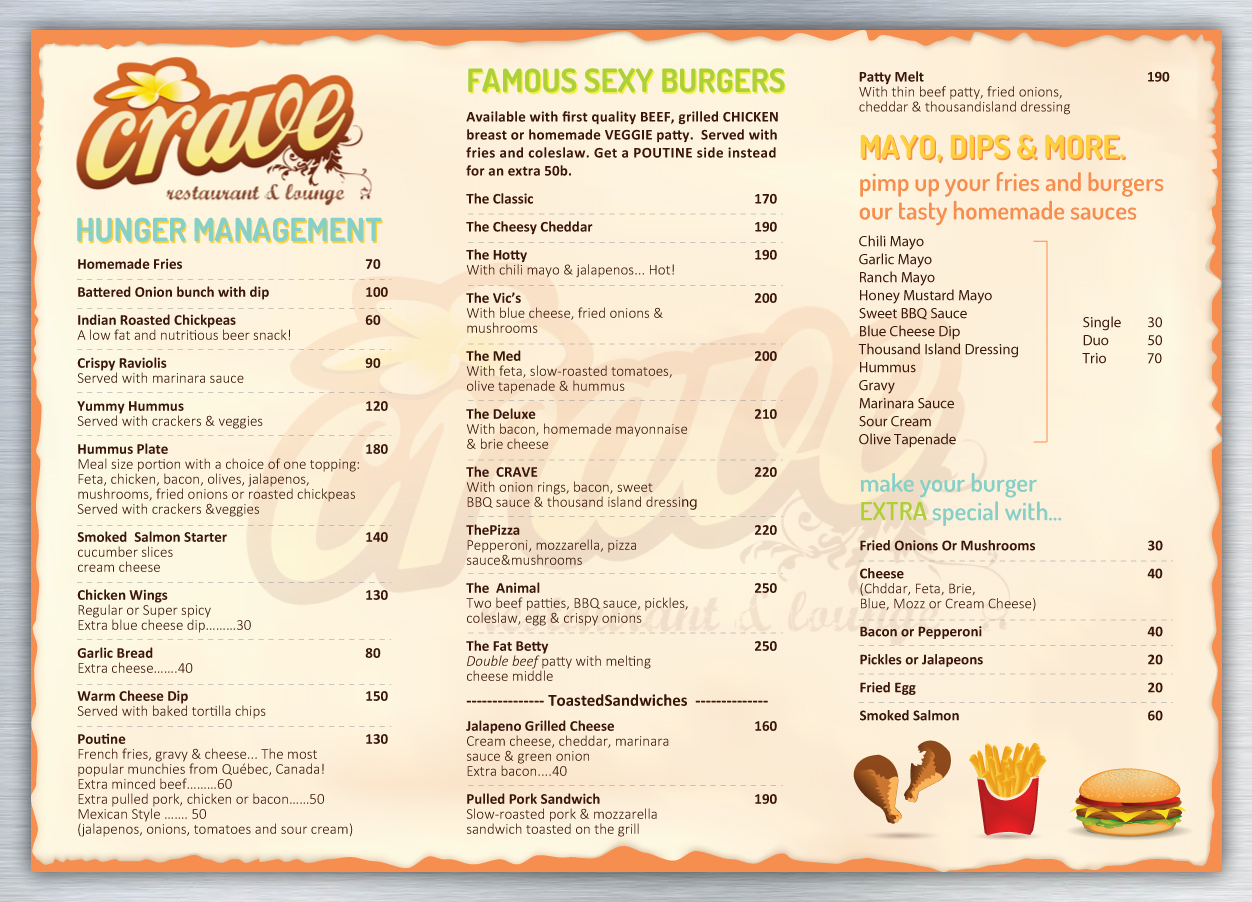 Note The Menu S May Subject To Change