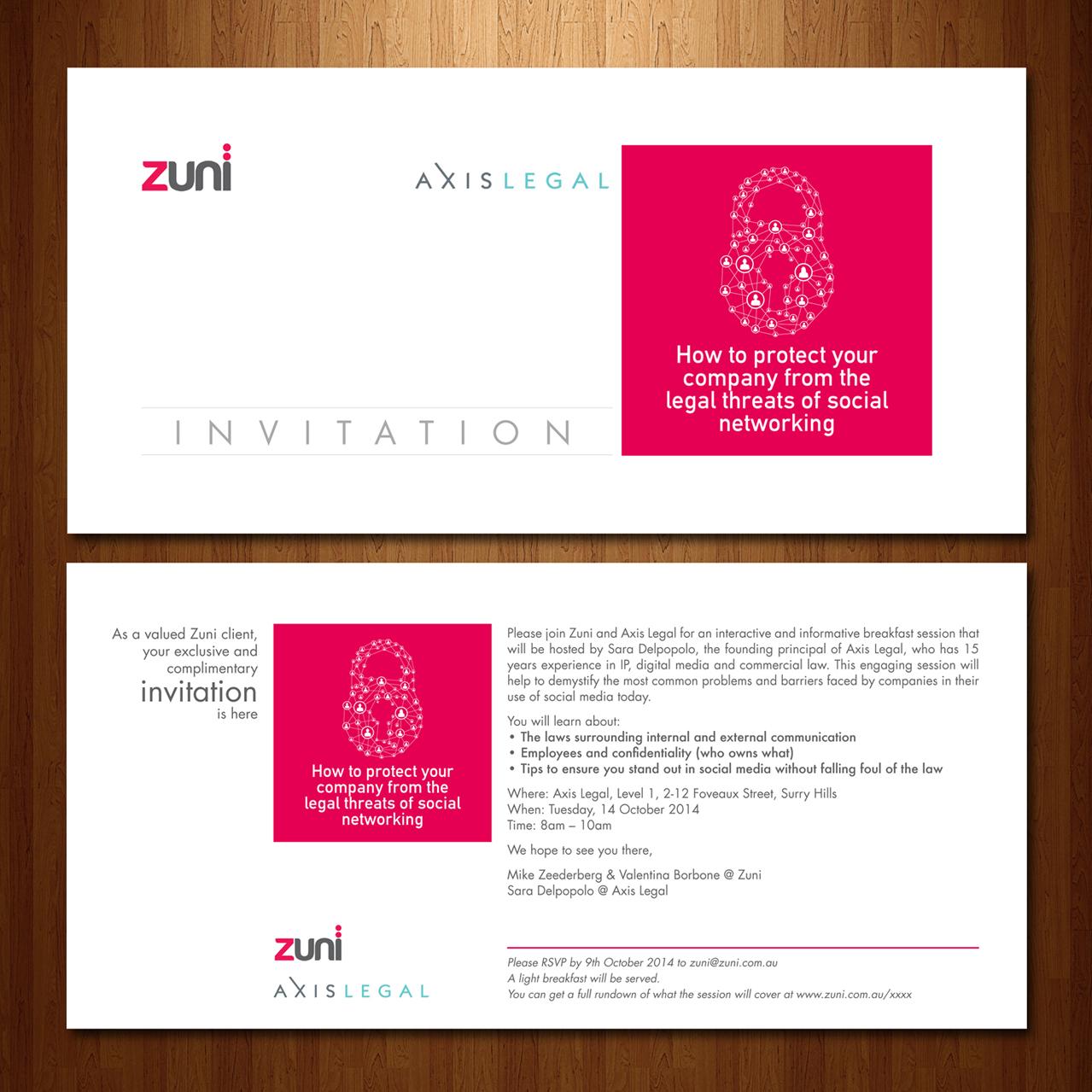 Invitation design for zuni by benoipaul design 4519170 invitation design by benoipaul for social media breakfast invite design 4519170 stopboris Images