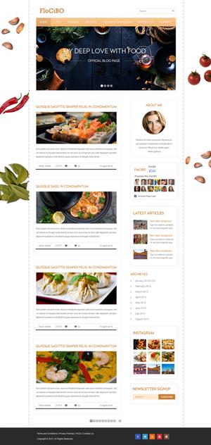Wordpress Design by Infinity Pix - Brazilian-Italian food blogger looks for a yumm...
