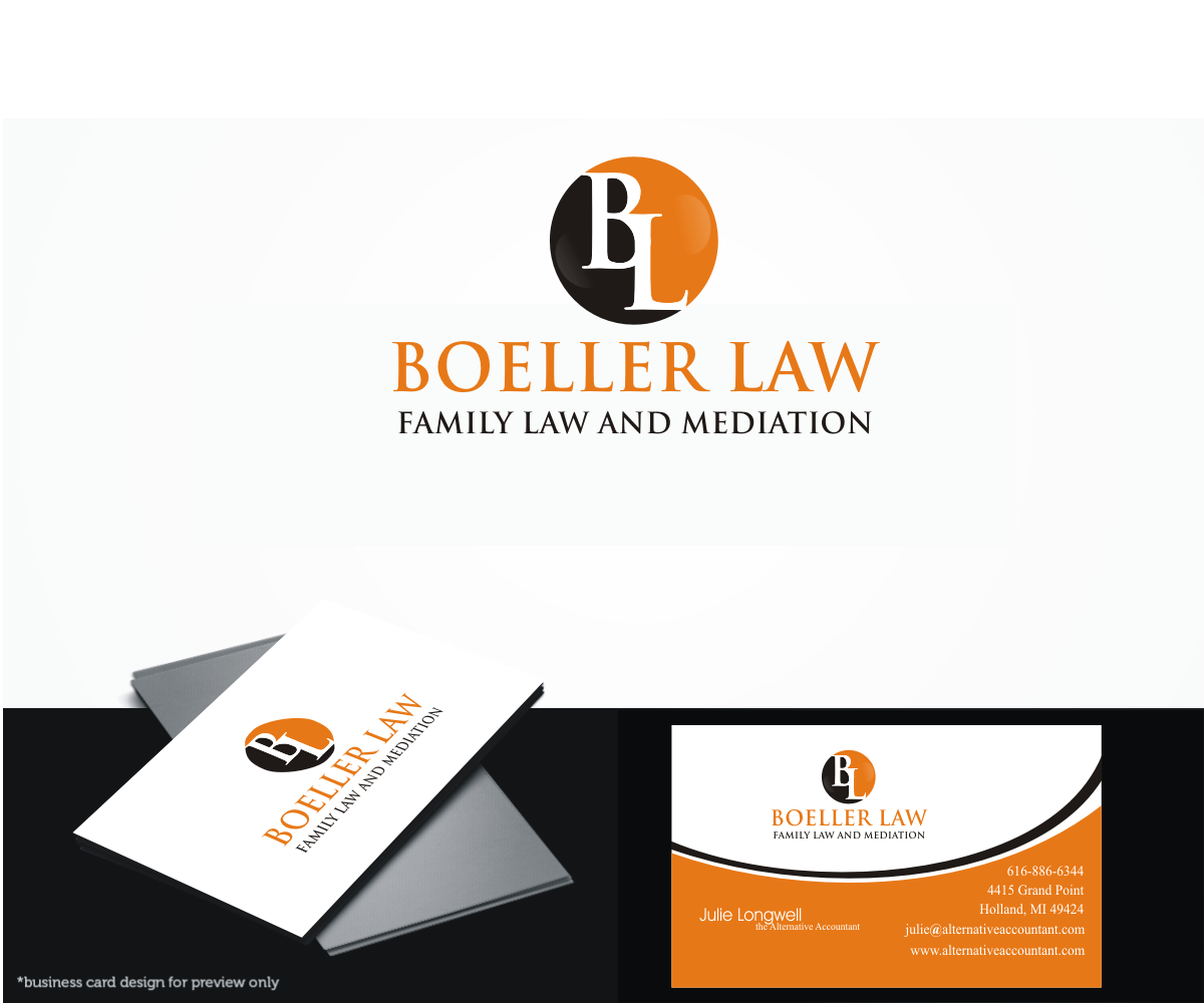 Upmarket elegant family law logo design for boeller law family logo design by beyond design amy for this project design 4512460 reheart Choice Image