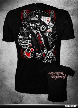 T-shirt Design by GekDesigns - HUSTLE & FLOW shirt