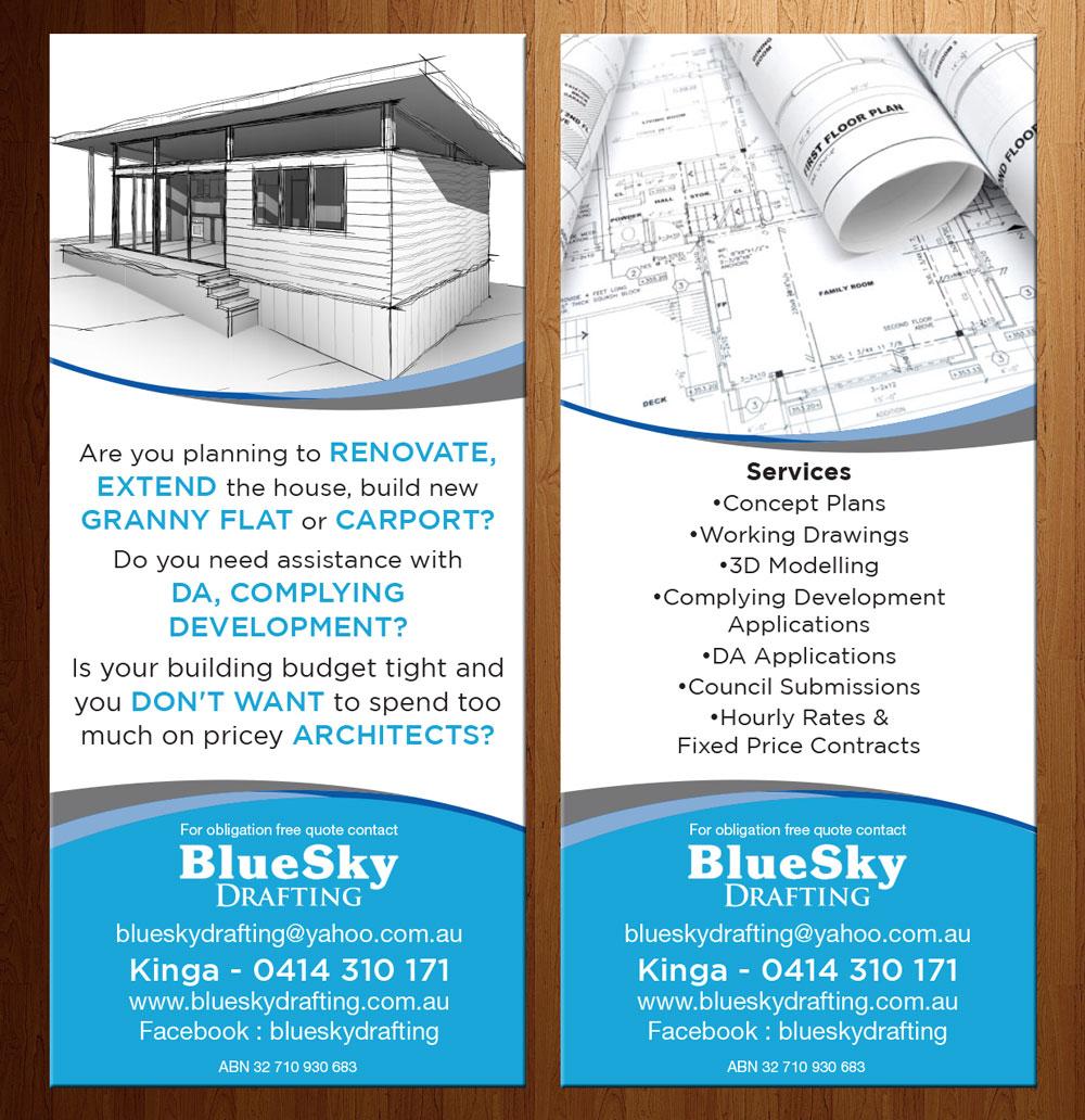 Elegant modern building flyer design for mebel pty ltd for Modern design building services ltd