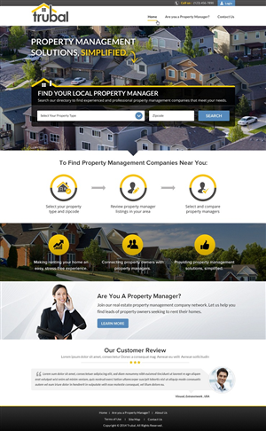 Web Design by smart - Trubal - Property Management Company Listings -...