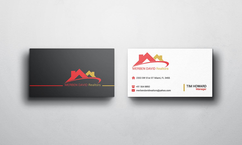 business card design design for merben david a company in