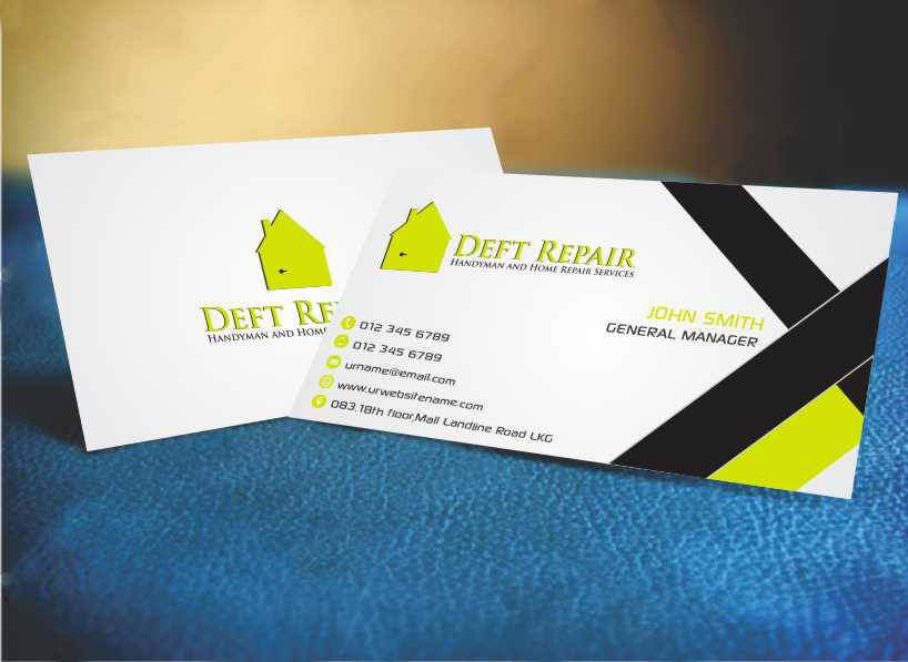 Handyman Business Card Design for a Company by AwsomeD | Design #4539402