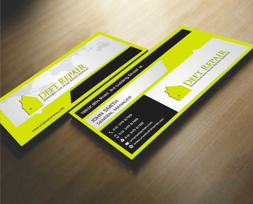 Handyman Business Card Design for a Company by AwsomeD | Design #4539425