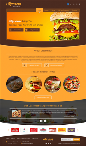 Web Design by smart - City Menu's on the Go
