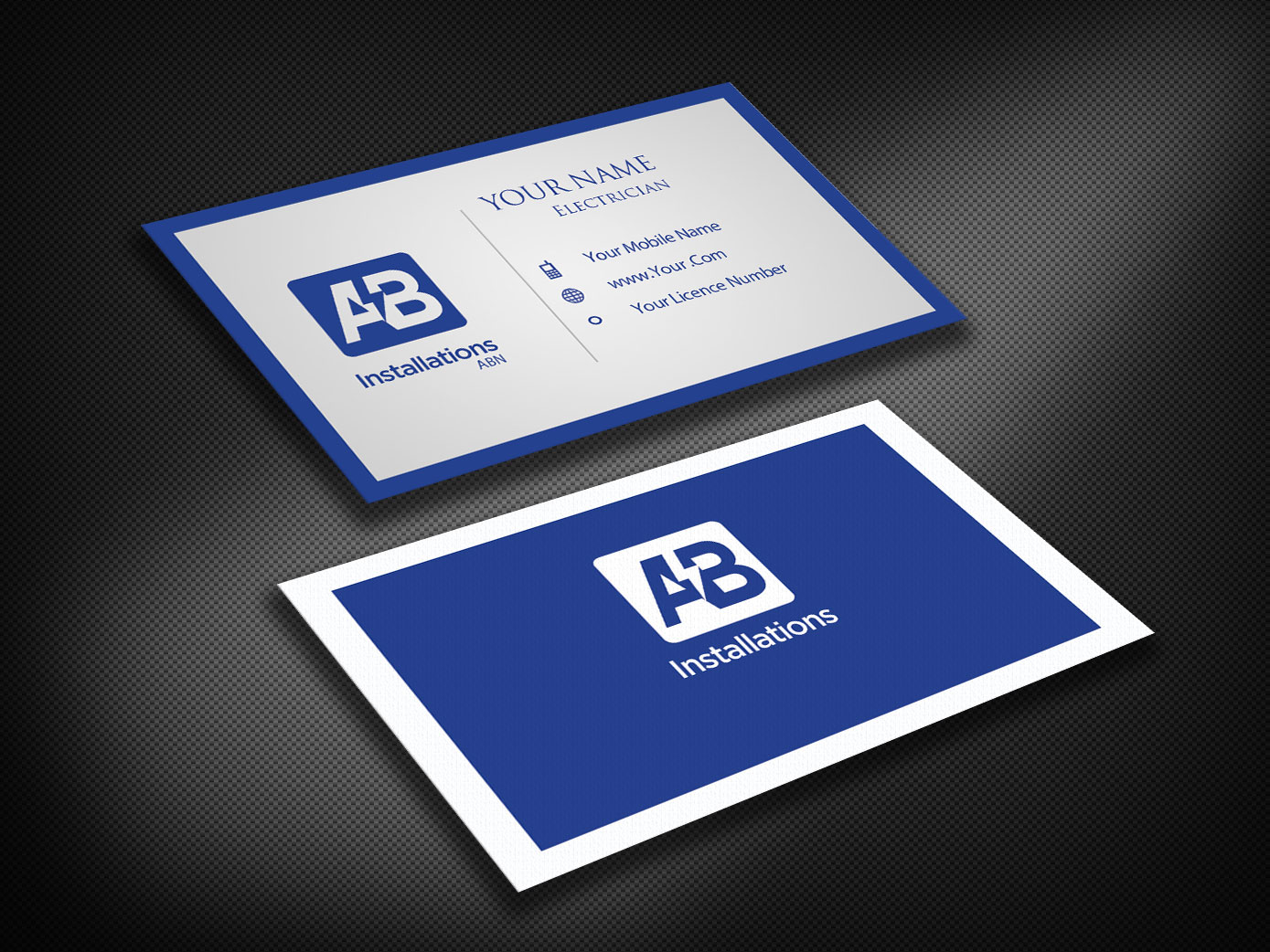 Business Card Design for AB Installations by Pawana | Design #4510918