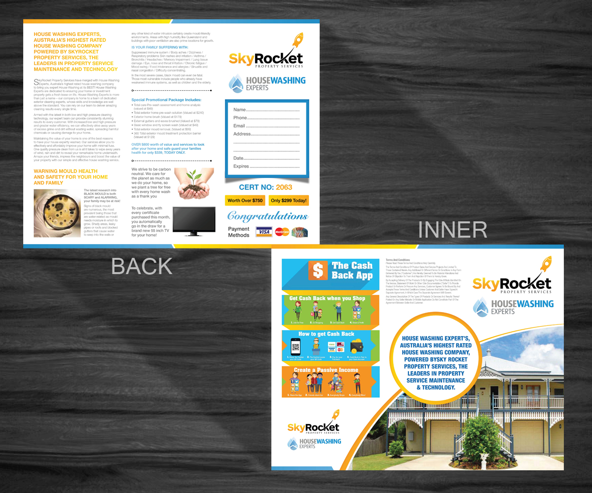 marketing brochure design - marketing brochure design for skyrocket property services