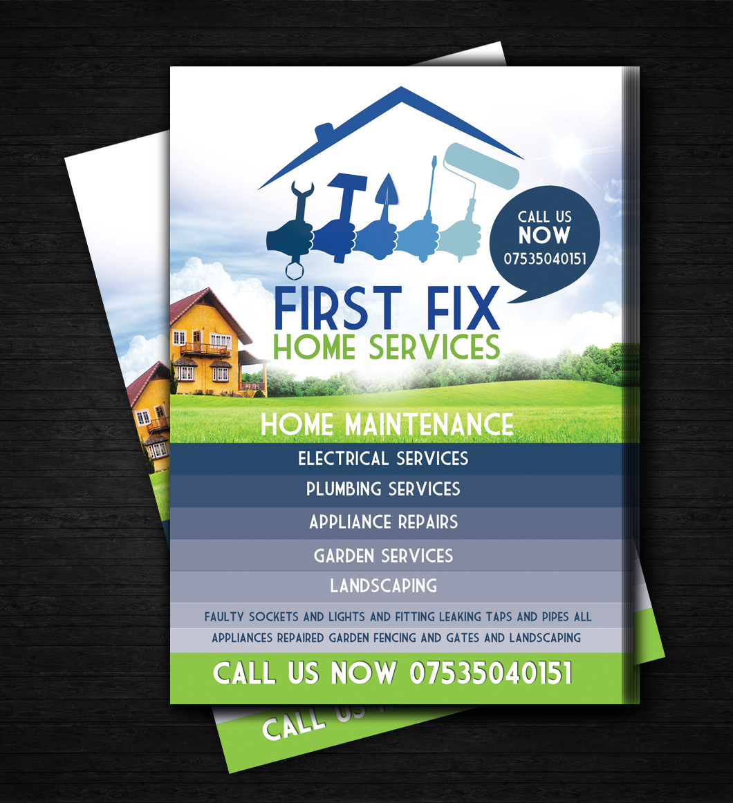 5 Flyer Designs | Appliance Flyer Design Project for a Business in on interior design flyer, logo design flyer, web design flyer, fiesta flyer, architecture flyer, landscaping flyer, photography flyer, graphic design flyer,